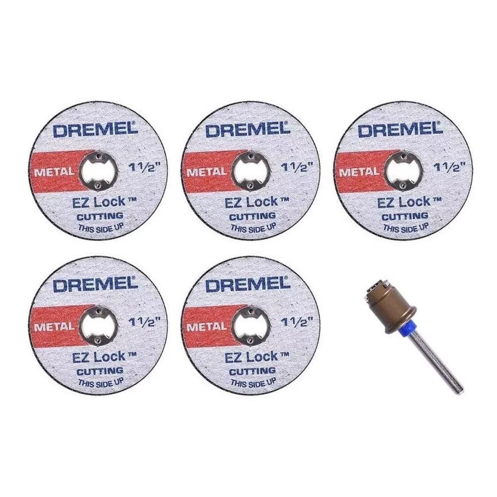 1 MANDRIL + 5 DISCOS METAL DREMEL EZ406 2615E406AD
