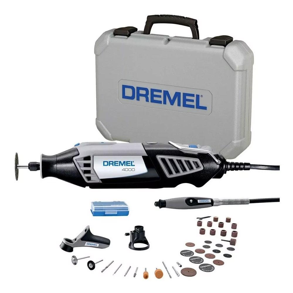 MICRORETIFICA DREMEL 4000 COM 36 ACESSORIOS 127V F0134000NB