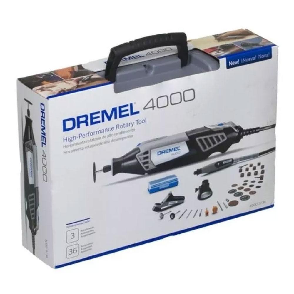 MICRORETIFICA DREMEL 4000 COM 36 ACESSORIOS 220V F0134000NC