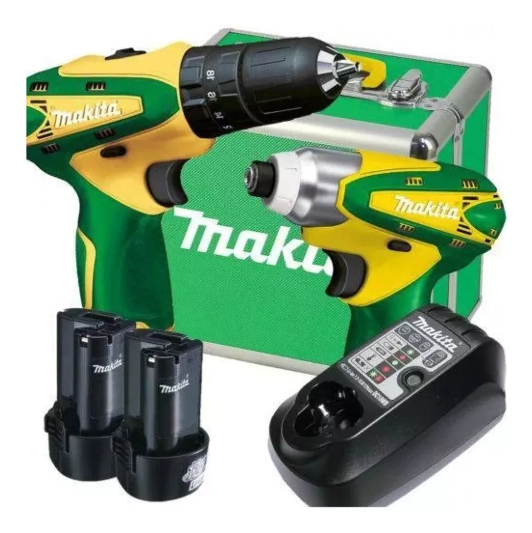 Kit DK1493BR Furadeira HP330D + parafusadeira TD090D 12vmax 1.3ah bivolt cluster Makita