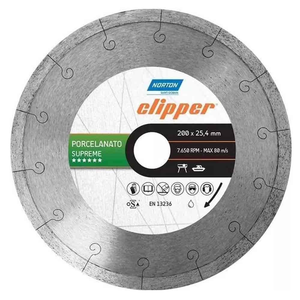 DISCO DIAMANTADO LISO 200 X 25,4 PORCELANATO SUPREME CLIPPER 70184601449