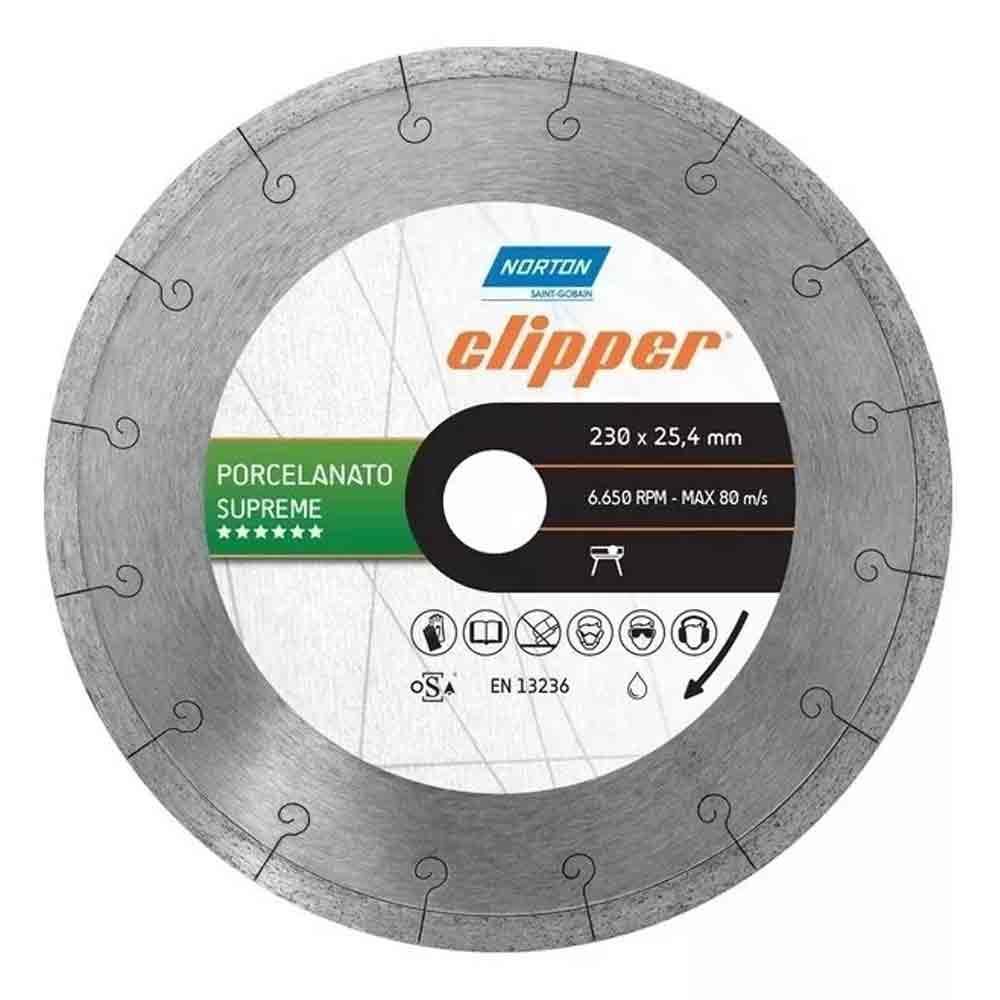 DISCO DIAMANTADO LISO 230 X 25,4 PORCELANATO SUPREME CLIPPER 70184601446