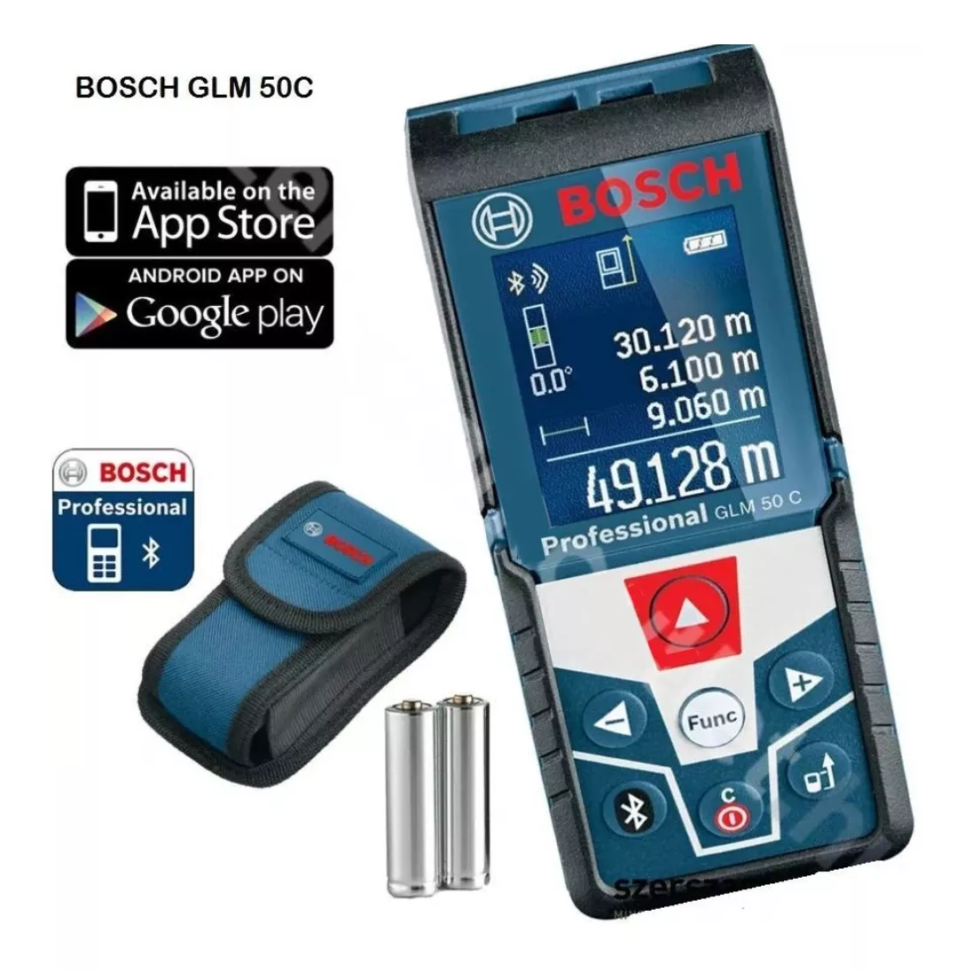 Medidor De Distância Laser GLM50c Bosch Com Bluetooth