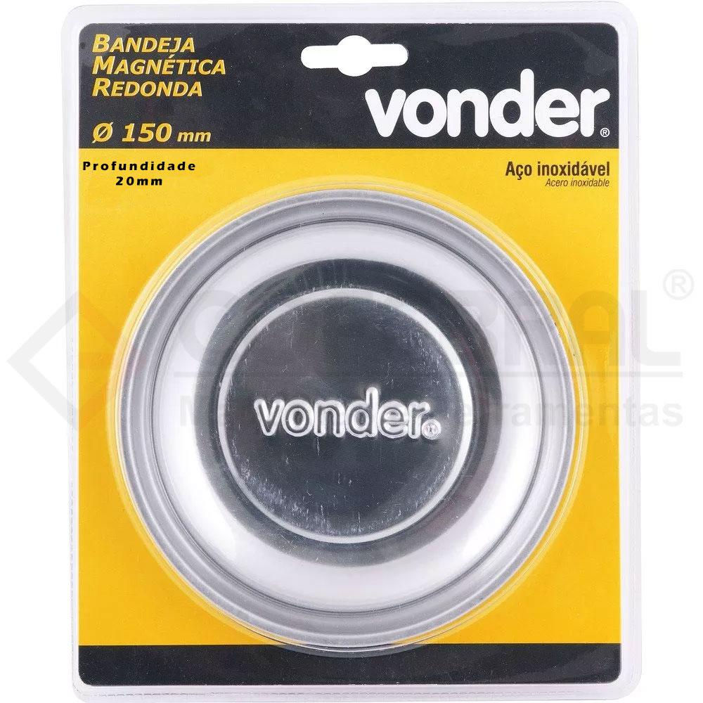 BANDEJA MAGNETICA REDONDA 150MM X 20MM VONDER 3599150025
