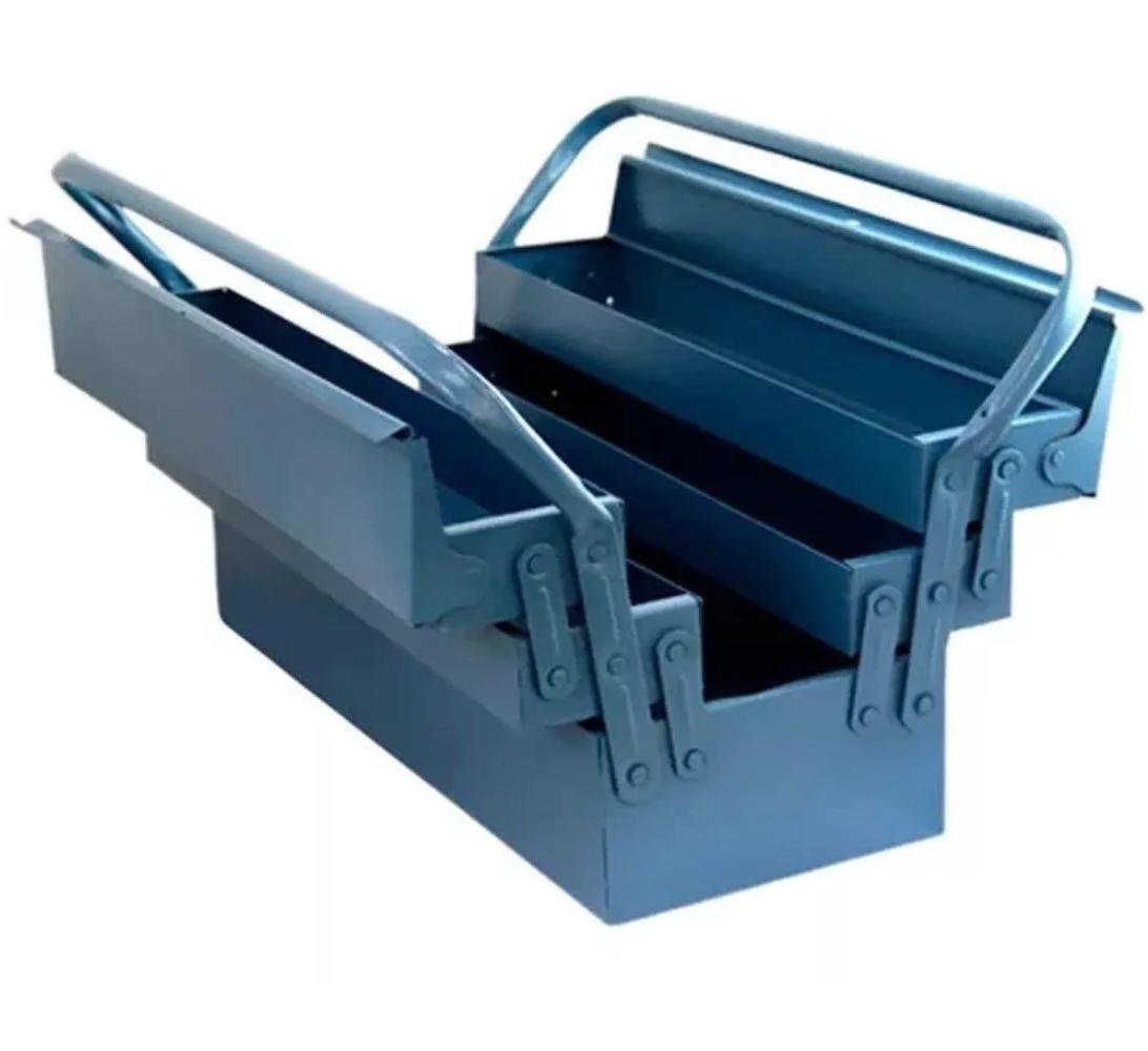 Caixa de ferramentas Reforçada Sanfonada com 5 gavetas 500 x 200 x 210mm Marcon 550R
