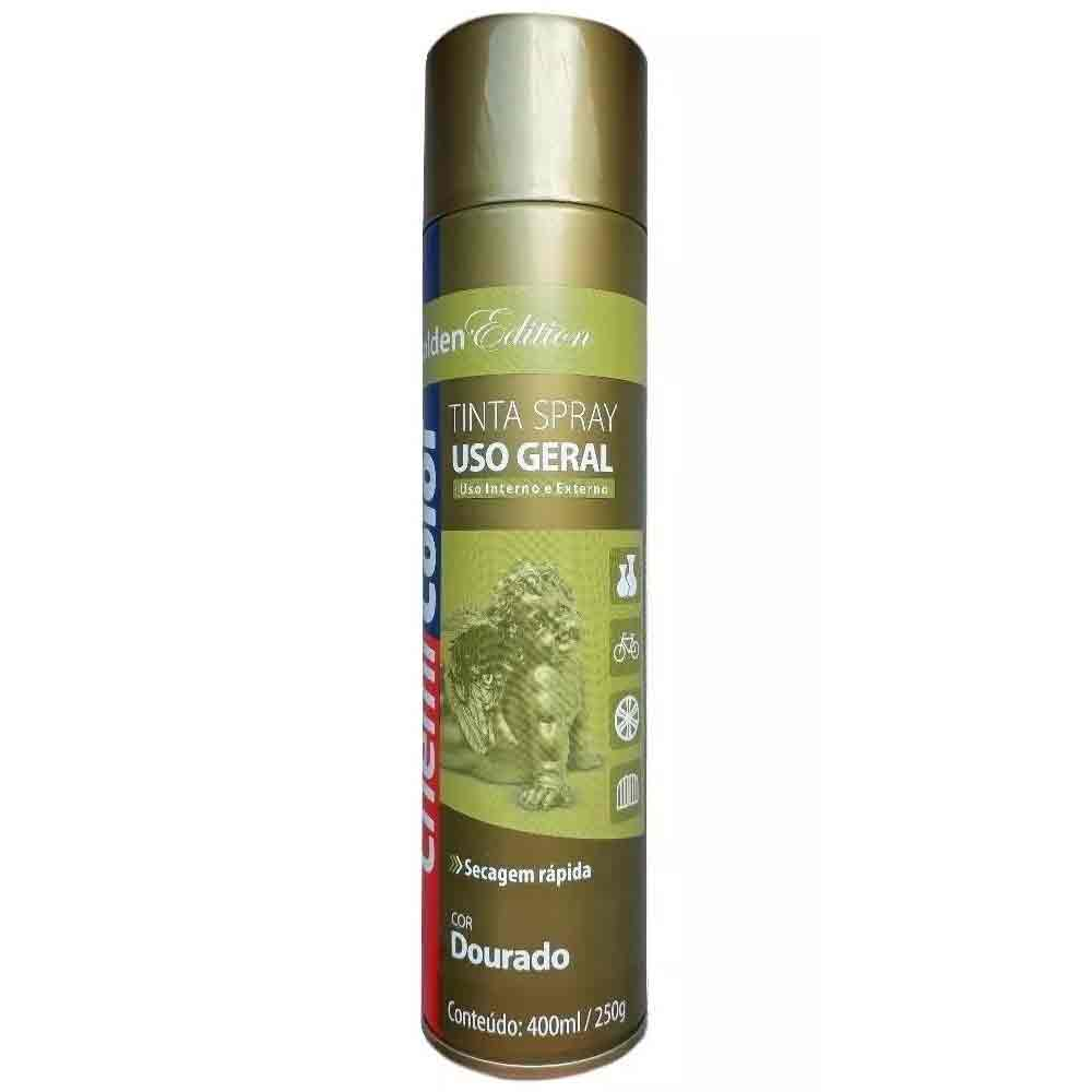 TINTA SPRAY DOURADO 400ML CHEMICOLOR BASTON 0680094