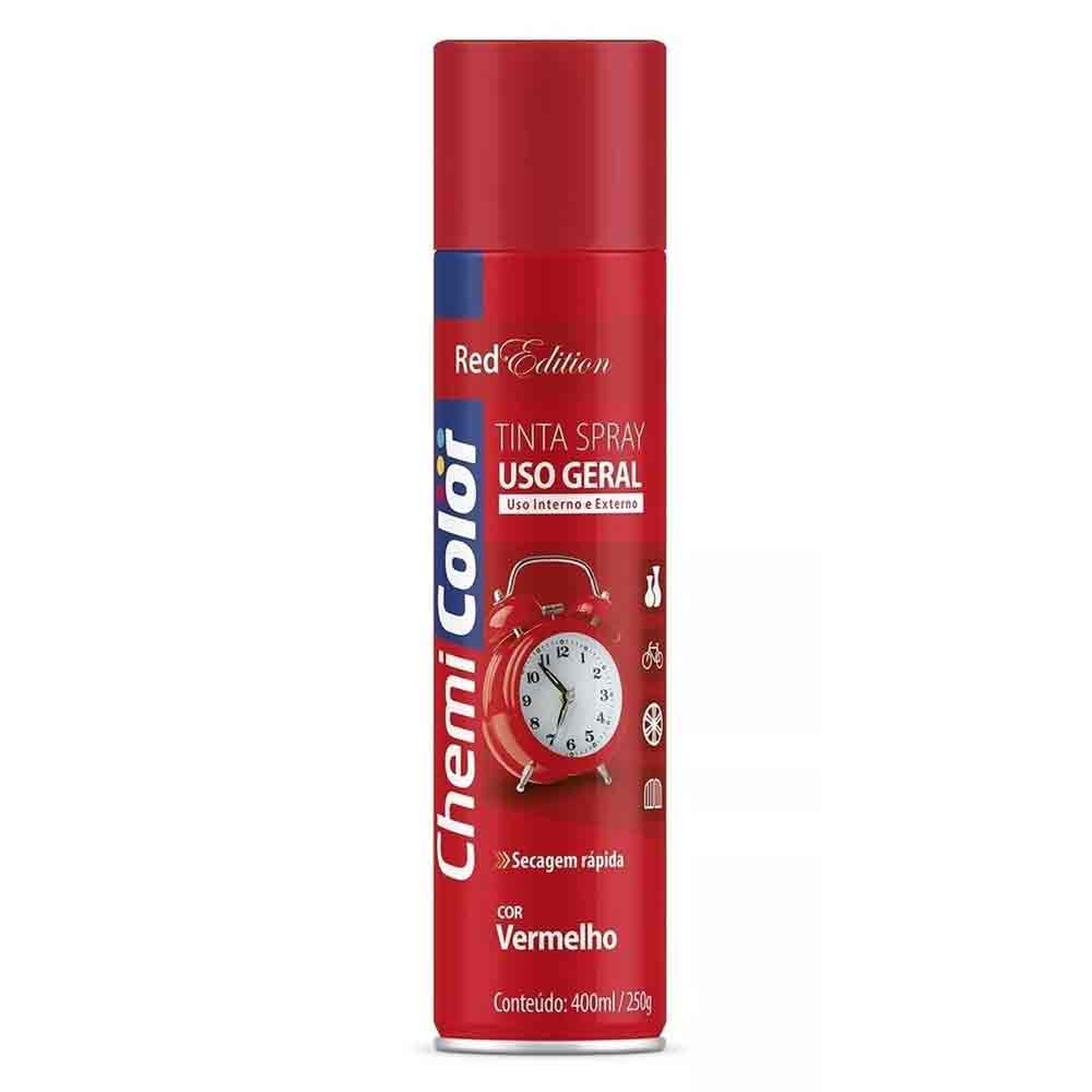 TINTA SPRAY VERMELHO RED EDITION 400ML CHEMICOLOR BASTON