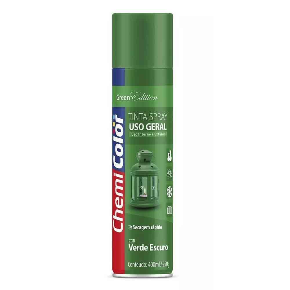 TINTA SPRAY VERDE ESCURO GREEN EDITION 400ML CHEMICOLOR BASTON
