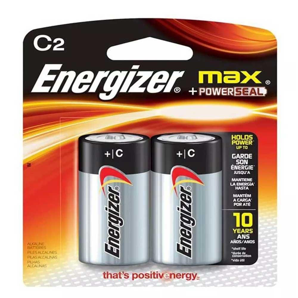 PILHA C2 MAX POWERSEAL CARTELA COM 2 PILHAS ENERGIZER