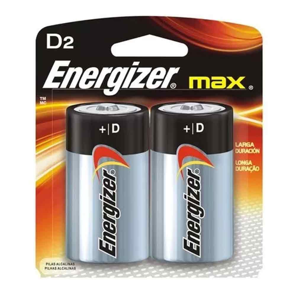 PILHA D2 MAX POWERSEAL CARTELA COM 2 PILHAS ENERGIZER