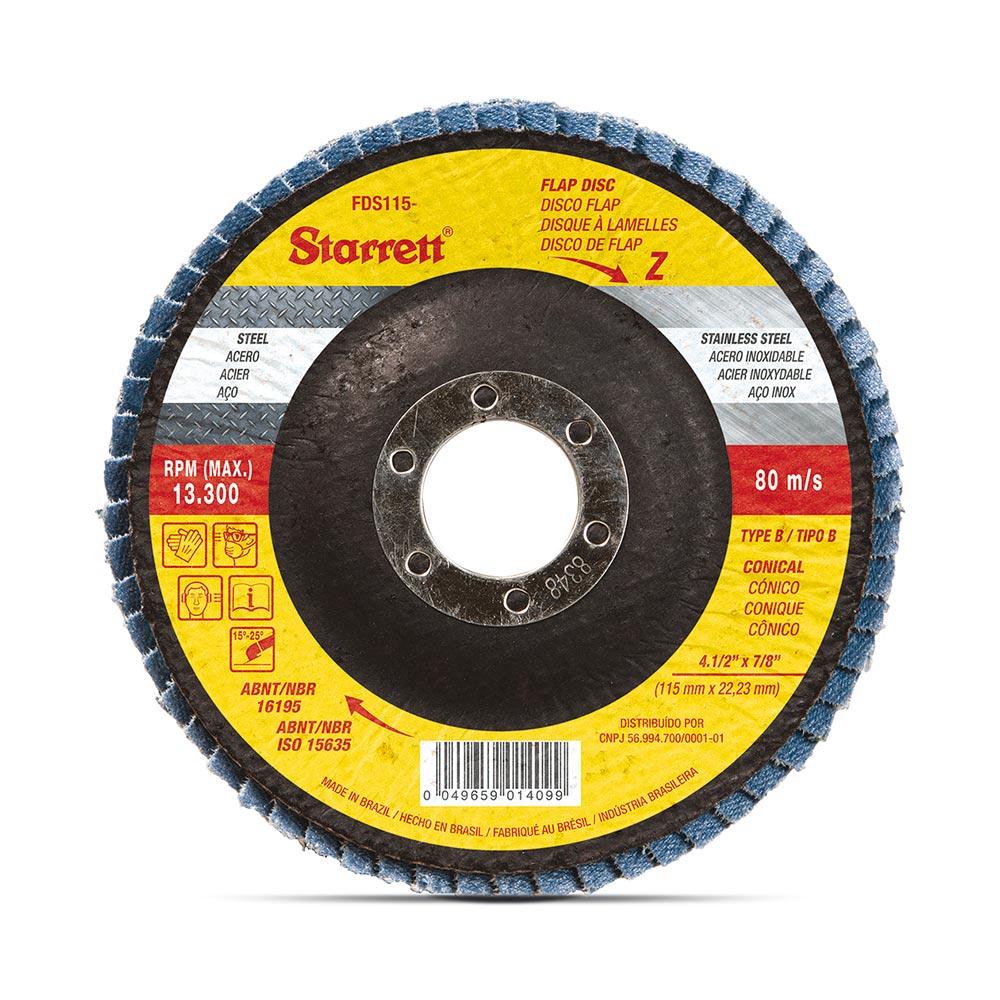 "DISCO LIXA FLAPDISC 4.1/2"" G.60 STARRETT FDS115-60FC"
